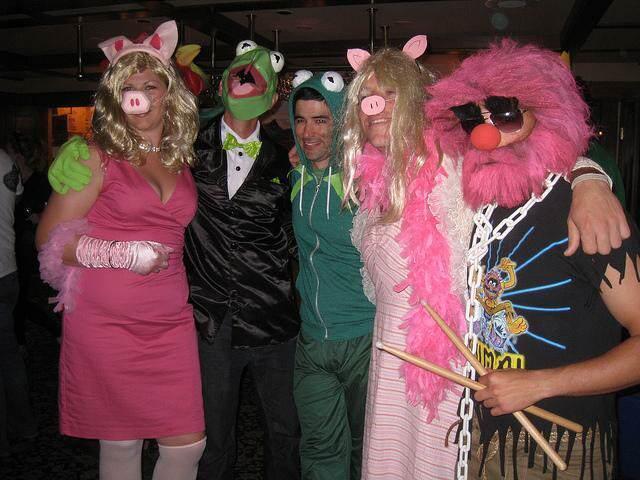 Kermit Miss Piggy divertidos disfraces para todo el mundo