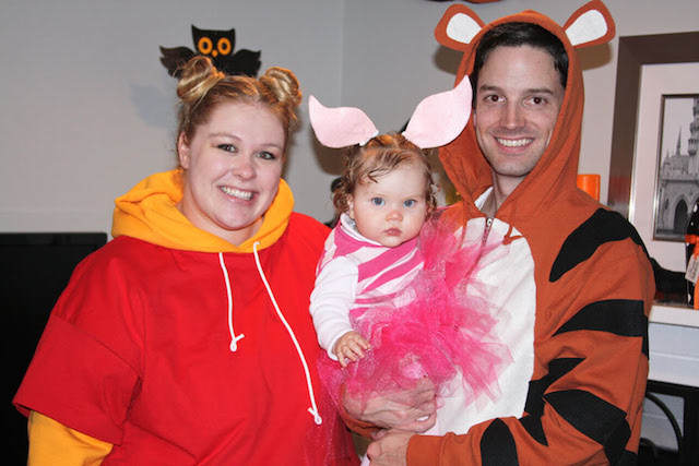 disfraces Winnie the Pooh Piglet para familia