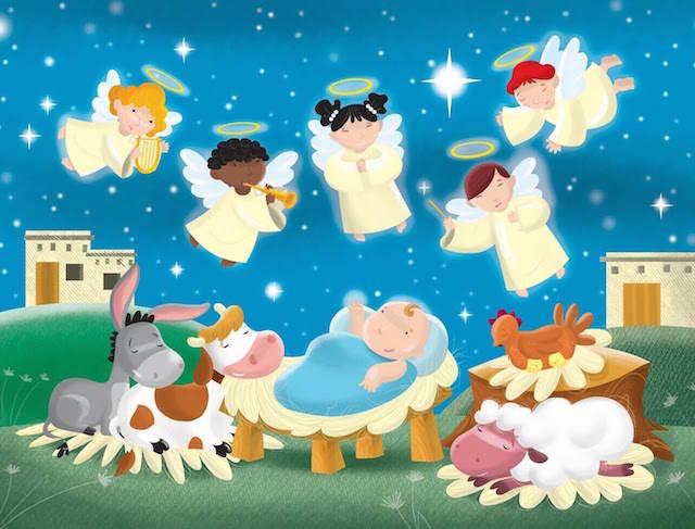 ángeles cantan villancicos niño Jesús Noche paz