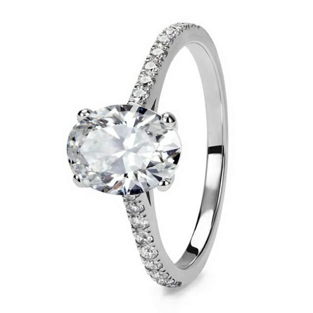 anillo de compromiso diamante vintage