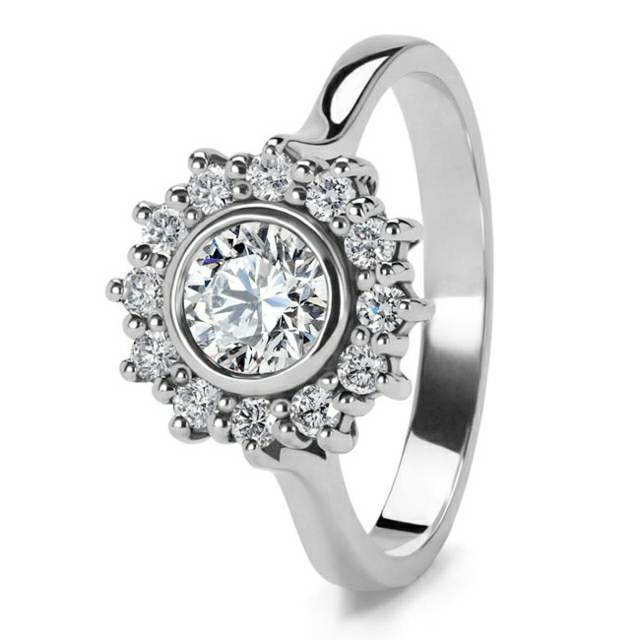 anillo de diamante Edwardia
