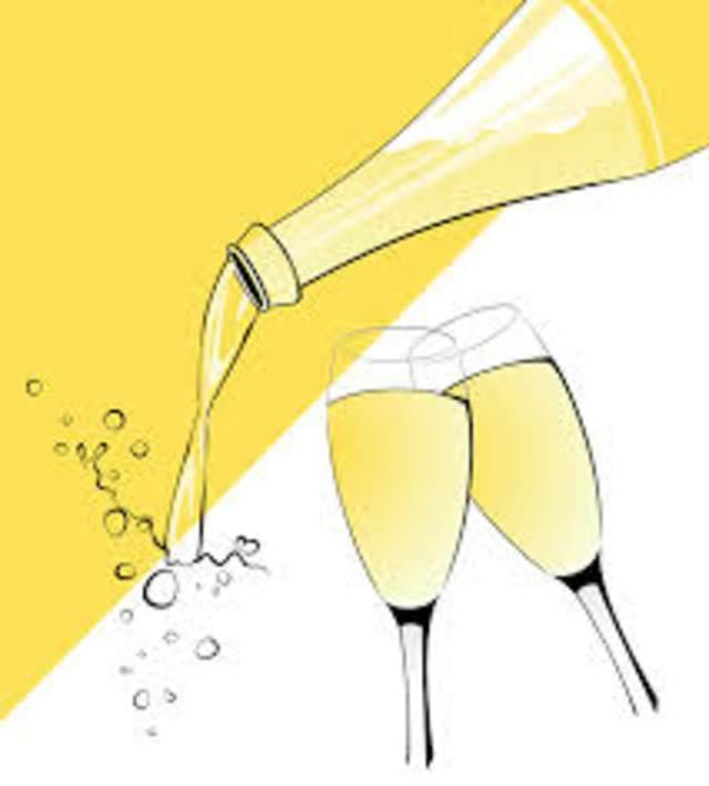 aniversario de bodas con champán