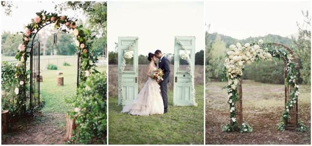 arcos florales para una boda novios