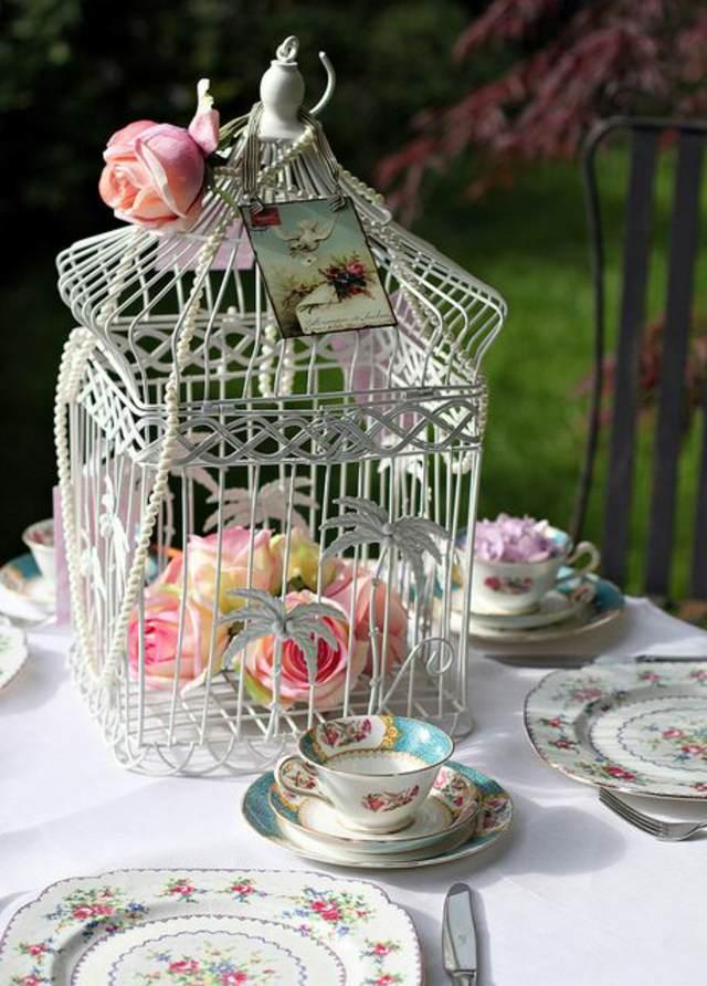 arreglos de mesa jaula la decoración