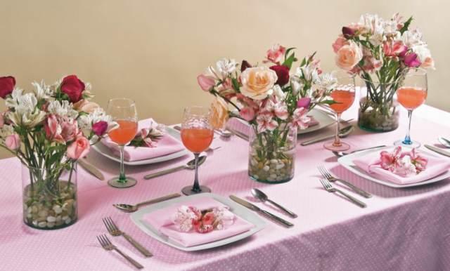 arreglos de mesa preciosa decoración flores