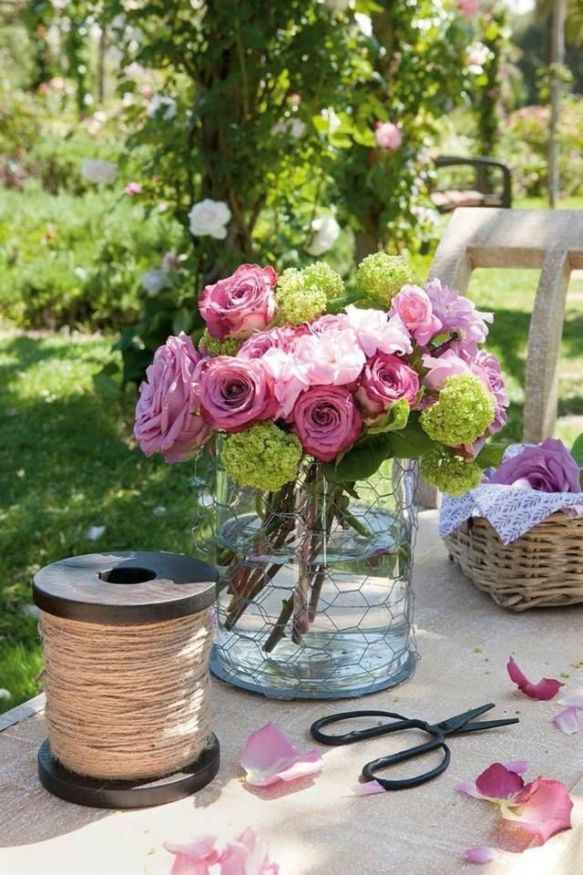 arreglos florales ideas para la decoración rosas