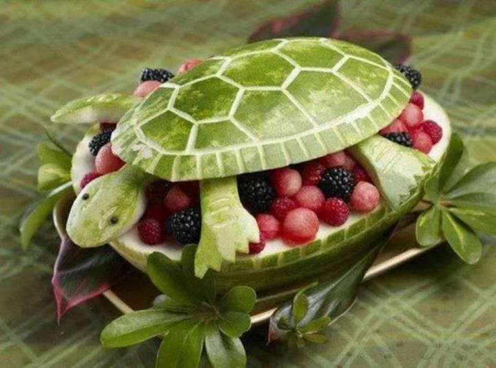 arreglos frutales forma tortuga unas uvas