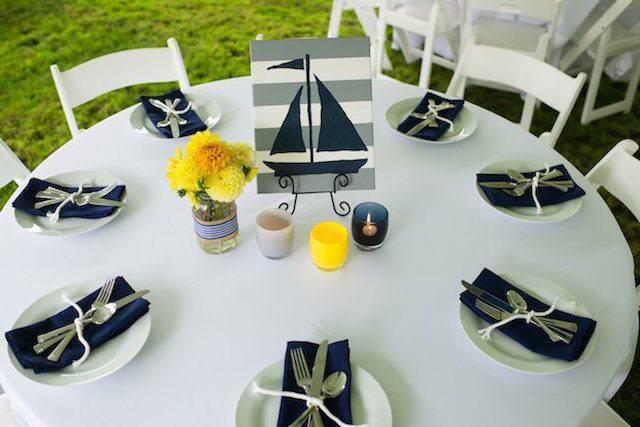 baby shower decoration mesa elegante color amarillo acento