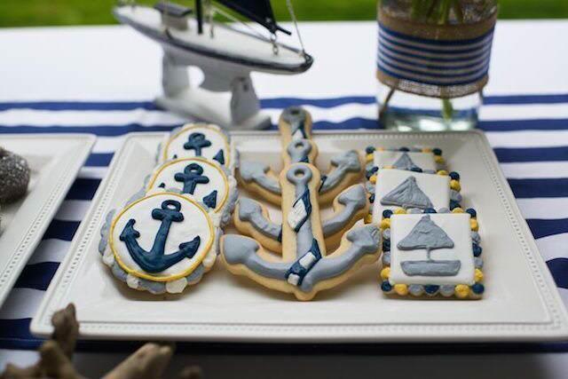 baby shower galletas decoradas estilo náutico anclas veleros