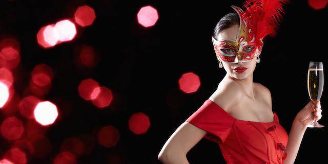 baile de máscaras evento elegante Navidad