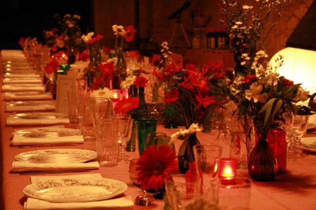 banquetes decoración unos arreglos florales