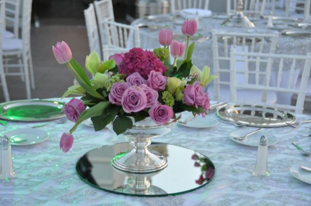 boda centros de mesa las flores preciosas