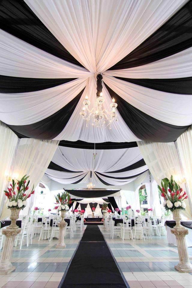 boda de navidad en decoración en blanco y negro