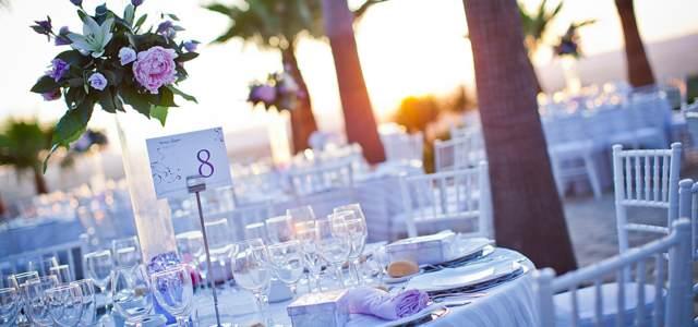 boda decoración de colores magníficos