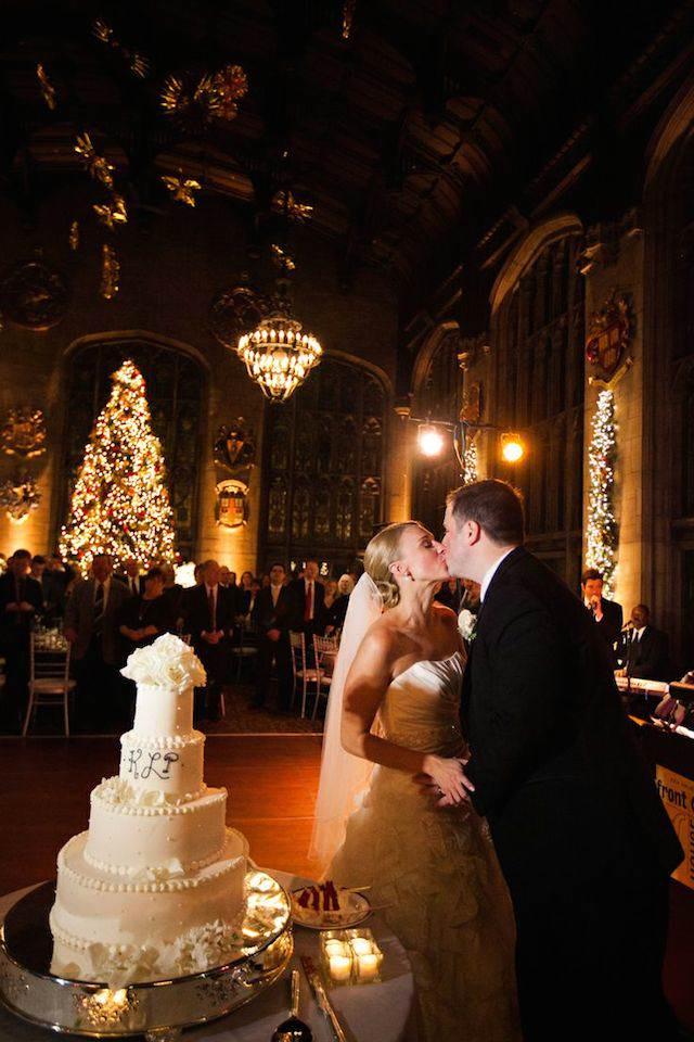 boda durante fiestas navideñas estilo clásico