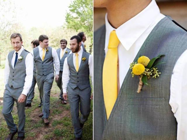 trajes de novio vintage color amarillo acento