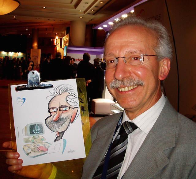 caricatura jefe compañía organización fiesta de navidad