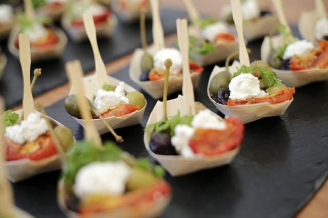 catering canapes para los eventos
