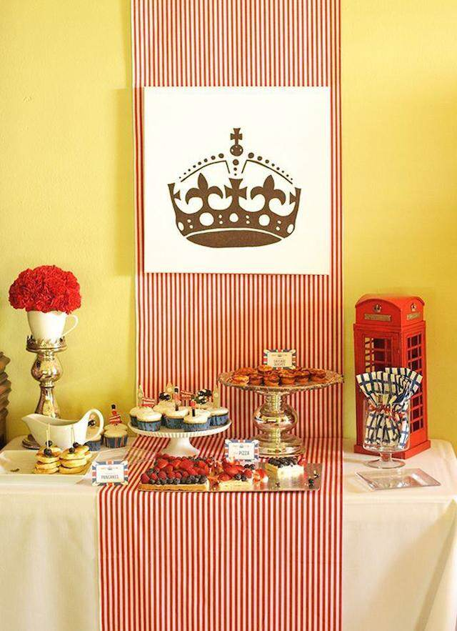 catering postres decoración tipo ingles clásico tema interesante