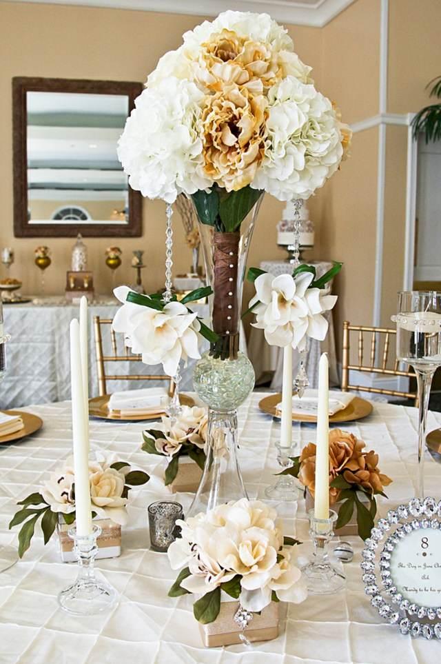centro de mesa elegante una decoración bonita