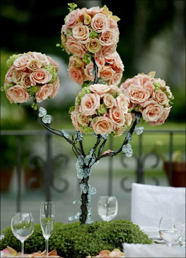 centro de mesa árbol decoración banquetes