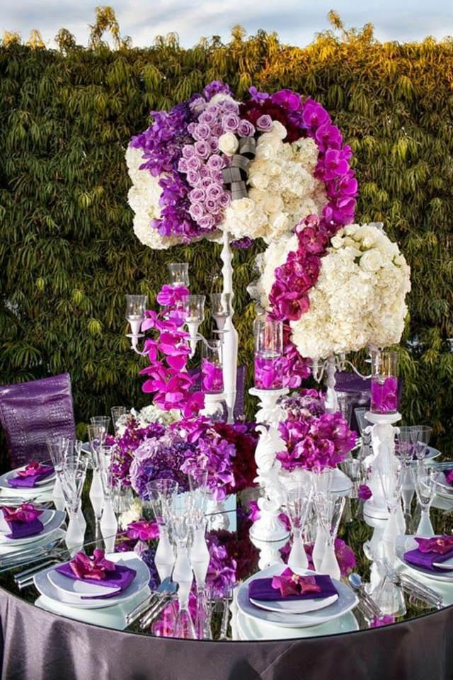 centros de mesa para boda unos colores magníficos