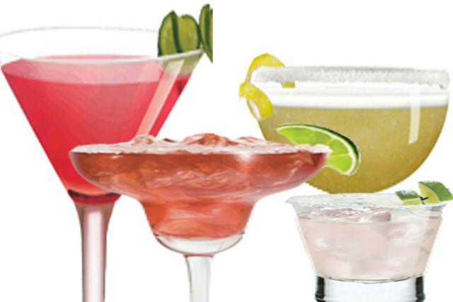 cocteles tequila diferentes colores