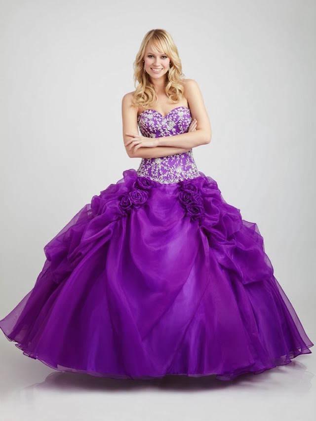 color lila moderno vestido de quinceañera