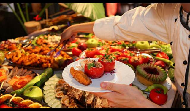 comida tipo bufet los eventos sociales