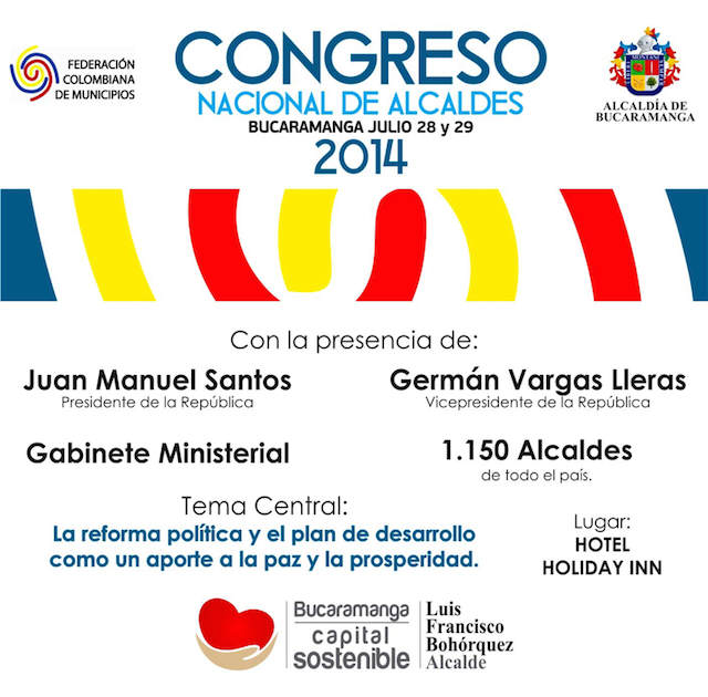 congreso nacional alcaldes tarjeta 2014