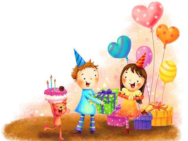cumpleaños regalos celebración feliz pastel velas globos