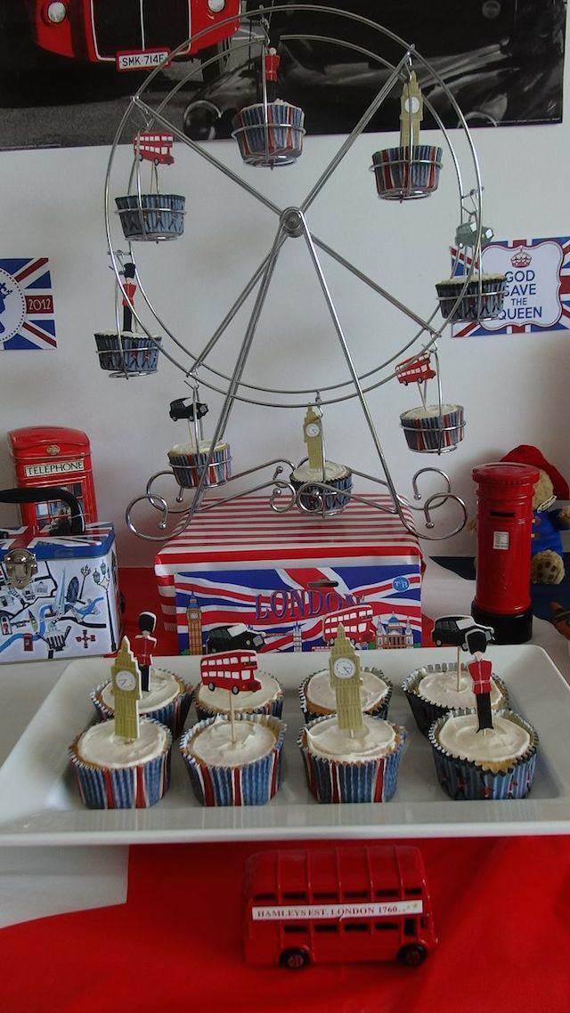 decoración catering postres tema elementos ingleses