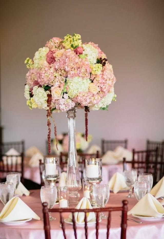 decoración centros de mesa colores suaves flores magníficos