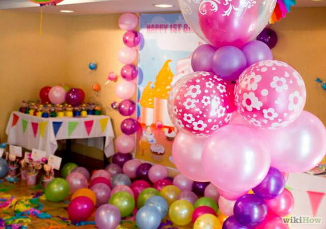 globos de diferentes colores idea para decoración