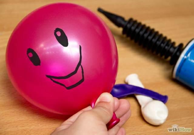 decoración con globos dibujos sobre globos