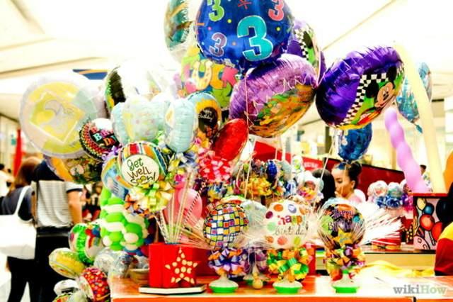 decoración de globos diferente formas