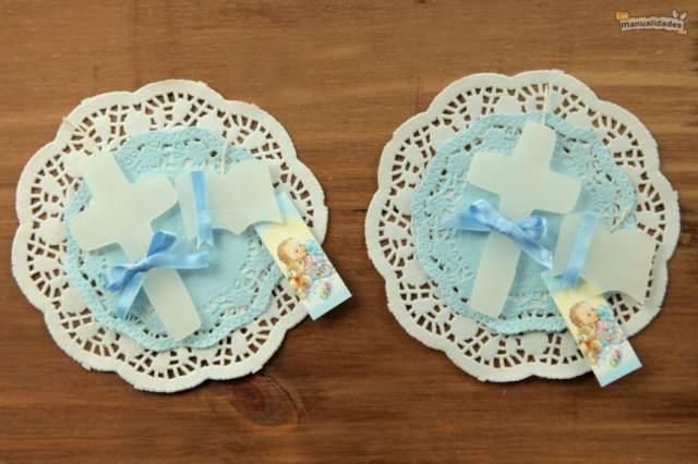 decoración de bautizo ideas en azul y blanco