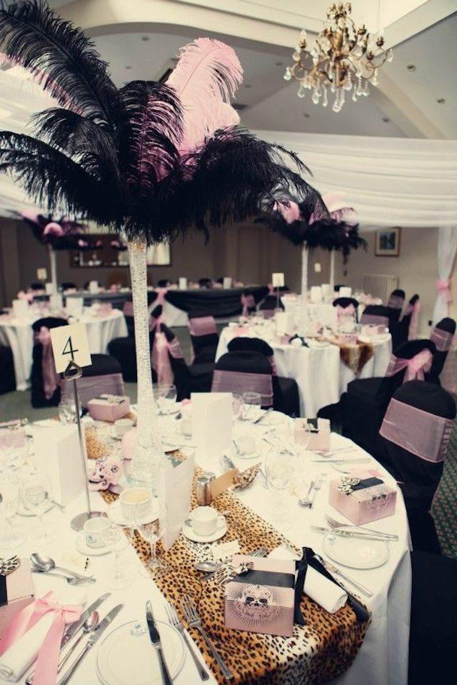 decoración de boda diseño leopardo y color lila