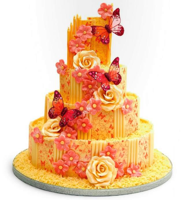 la decoración de tortas una idea increíble rosas mariposas