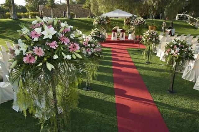 decoración floral una boda al aire libre