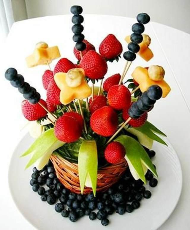 decoración frutas arreglos hermosos