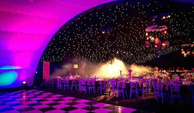 decoración iluminación evento corporativo navideño