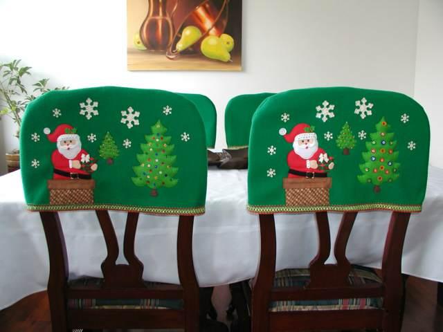 decoración navideña interesante asientos