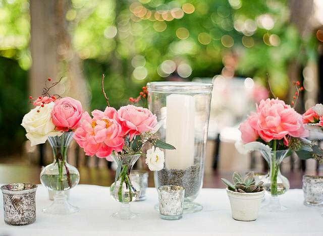 decoración mesa flores preciosas