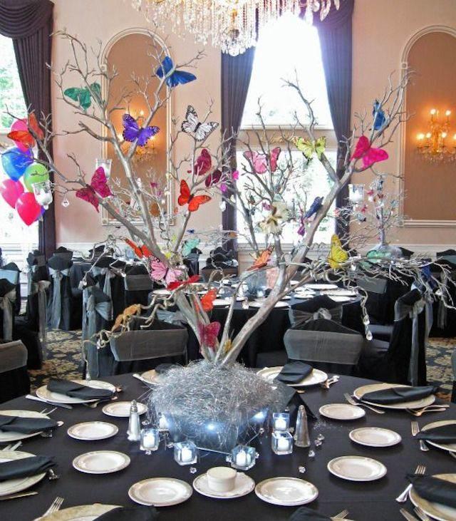 decoración moderna mariposas cuentos de hadas boda de navidad