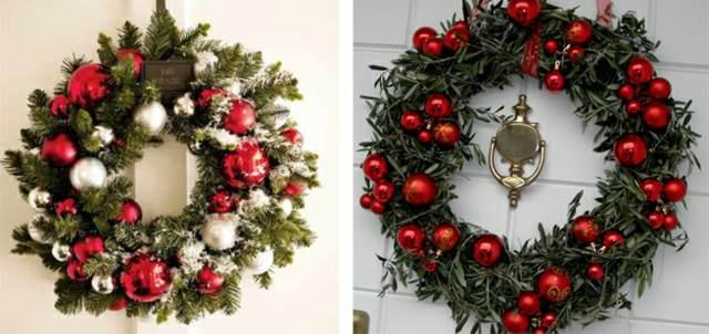 decoración original las bolas navideñas