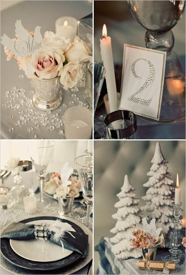 decoracion para bodas color aluminio moderno otoño invierno 2014