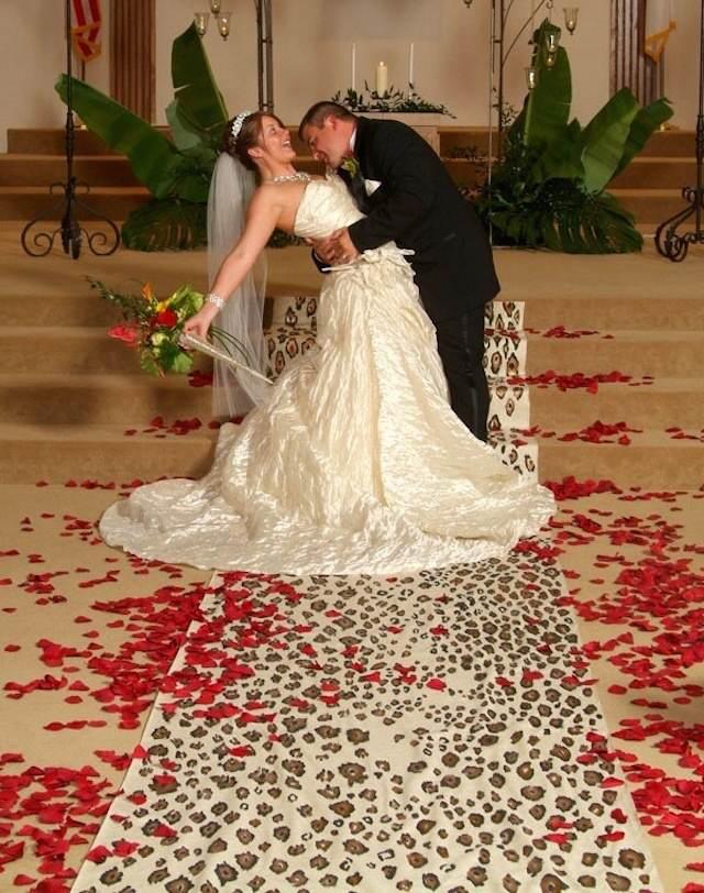 decoración para bodas diseño de leopardo moderno y color rojo