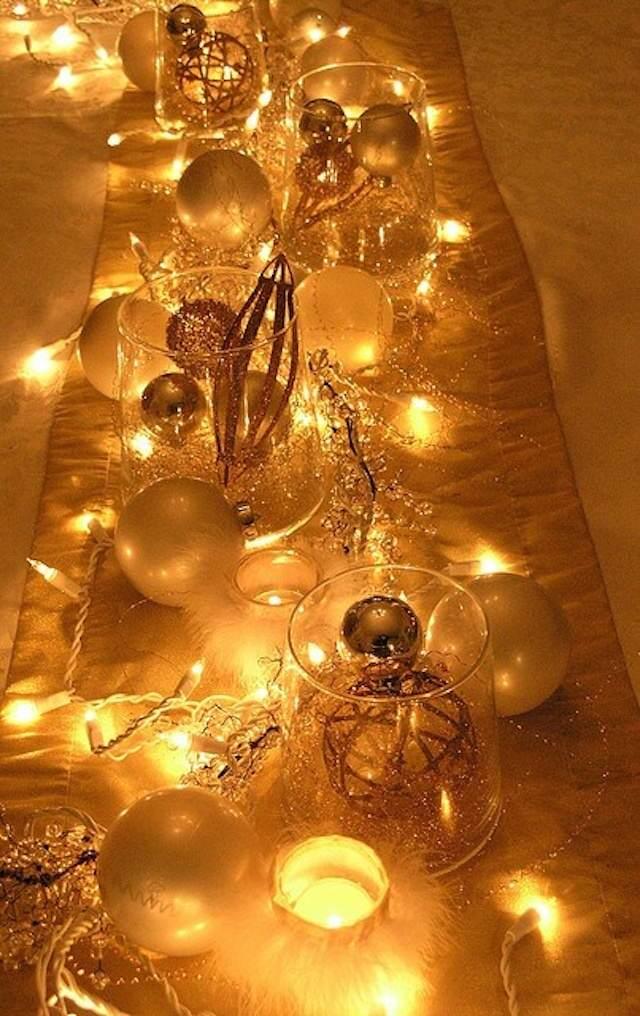 decoración para bodas tema de oro moderno