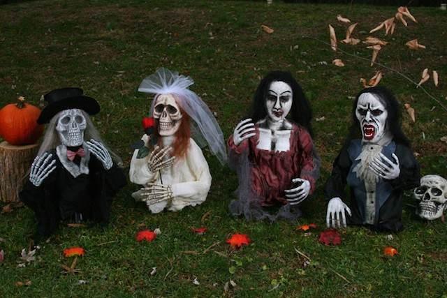 decoración para Halloween estilo terrible interesante